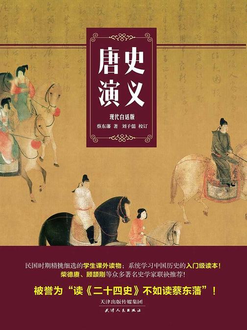 唐史演义(一本书读懂《长安十二时辰》背后的唐朝大历史)