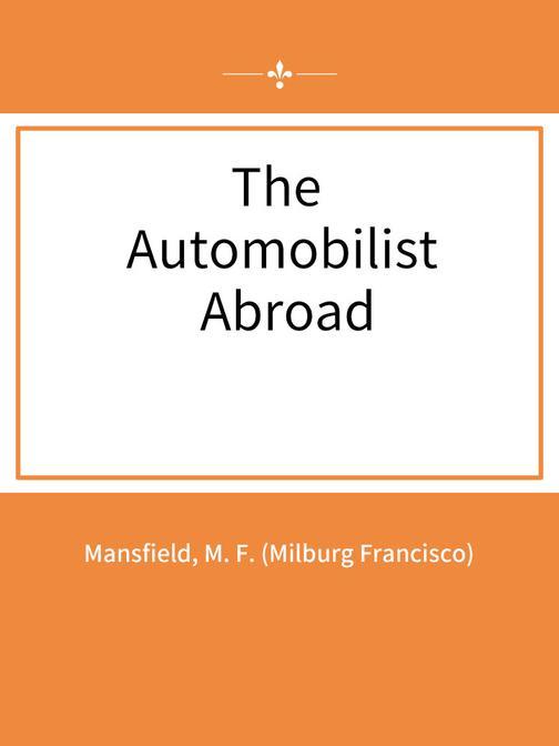 The Automobilist Abroad