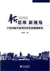 新思维 新视角:宁夏内陆开放型经济发展规划研究