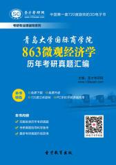 青岛大学国际商学院863微观经济学历年考研真题汇编