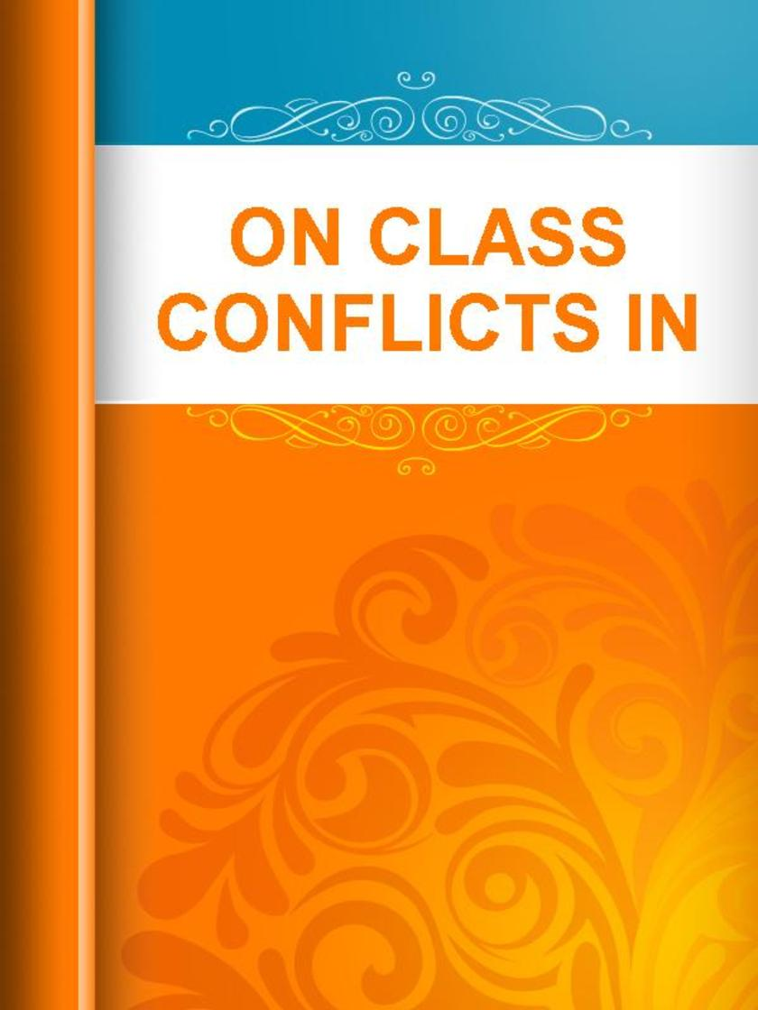 On Class Conflicts in General
