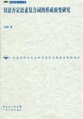 汉语否定语素复合词的形成演变研究