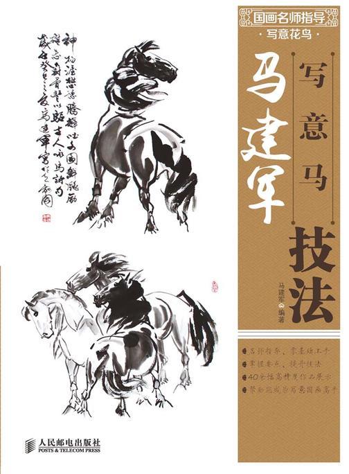 国画名师指导·写意花鸟——马建军写意马技法(不提供光盘内容)