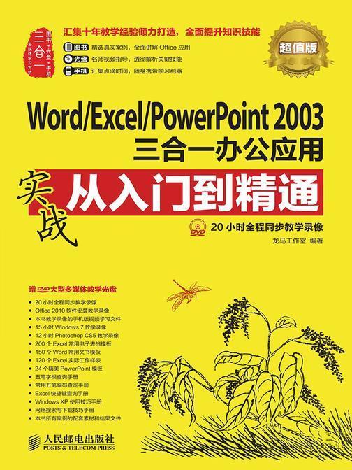 WordExcelPowerPoint 2003三合一办公应用实战从入门到精通(超值版)