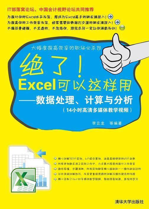绝了!Excel可以这样用——数据处理、计算与分析(光盘内容另行下载,地址见书封底)