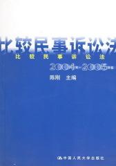 比较民事诉讼法.2004年~2005年卷