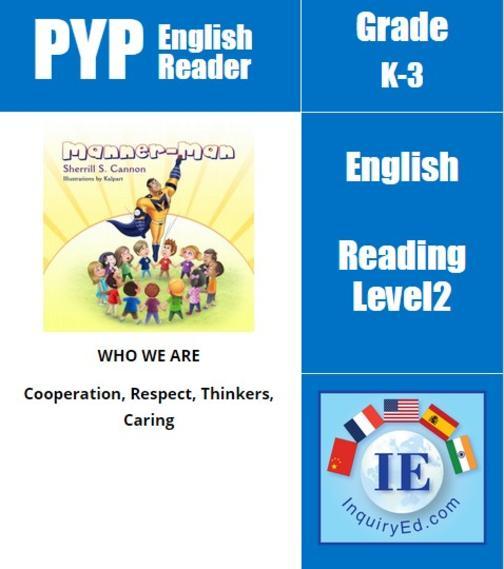 PYP: Reader-1- Manners & Self-Control Manner-Man