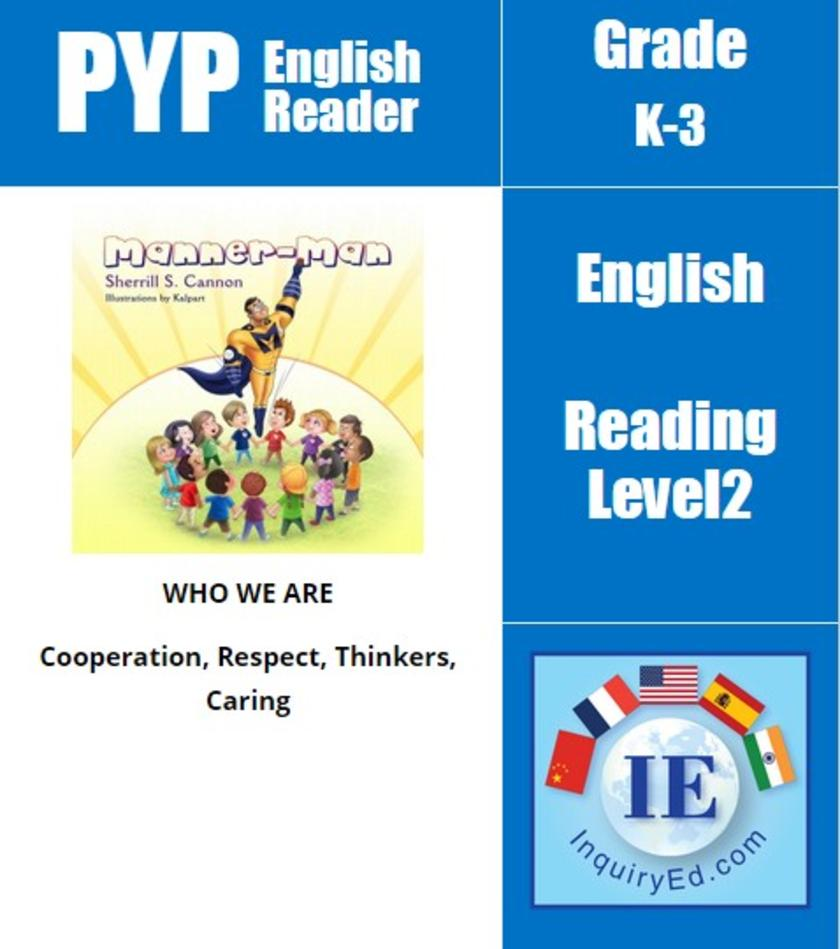 PYP: Reader-1- Manners & Self-Control Manner-Man