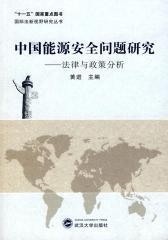 中国能源安全问题研究——法律与政策分析