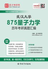 武汉大学875量子力学历年考研真题汇编