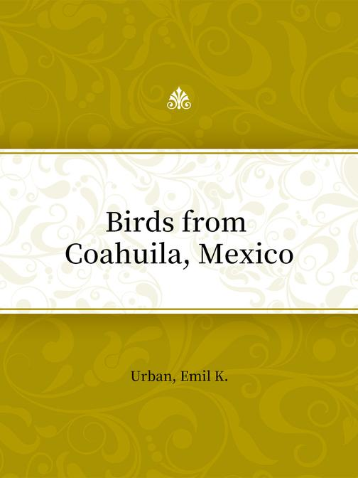Birds from Coahuila, Mexico