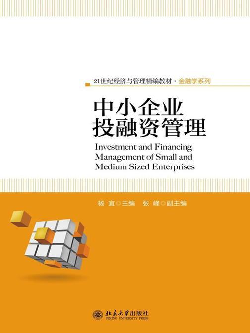 中小企业投融资管理(21世纪经济与管理精编教材·金融学系列)