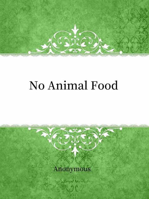 No Animal Food
