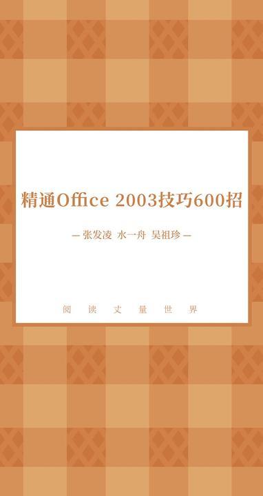 精通Office 2003技巧600招