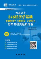 湖南大学846经济学基础(含微观经济学、宏观经济学、计量经济学)历年考研真题及详解