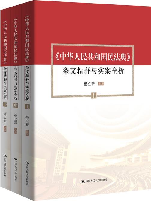 《中华人民共和国民法典》条文精释与实案全析(套装共3册)