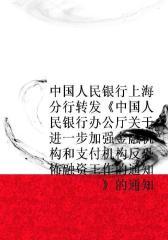 中国人民银行上海分行转发《中国人民银行办公厅关于进一步加强金融机构和支付机构反恐怖融资工作的通知》的通知