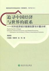 追寻中国经济与世界的联系:对外经济统计数据估算与计量分析(仅适用PC阅读)