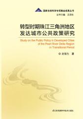 转型时期珠江三角洲地区发达城市公共政策研究
