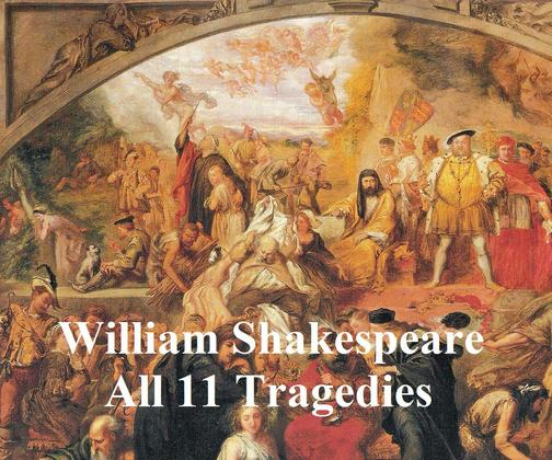 Shakespeare's Tragedies: 11 plays with line numbers