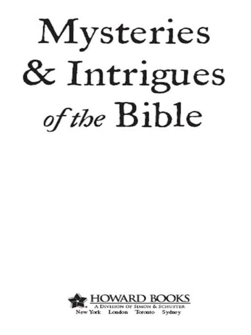 Mysteries & Intrigues of the Bible