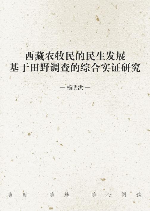 西藏农牧民的民生发展——基于田野调查的综合实证研究