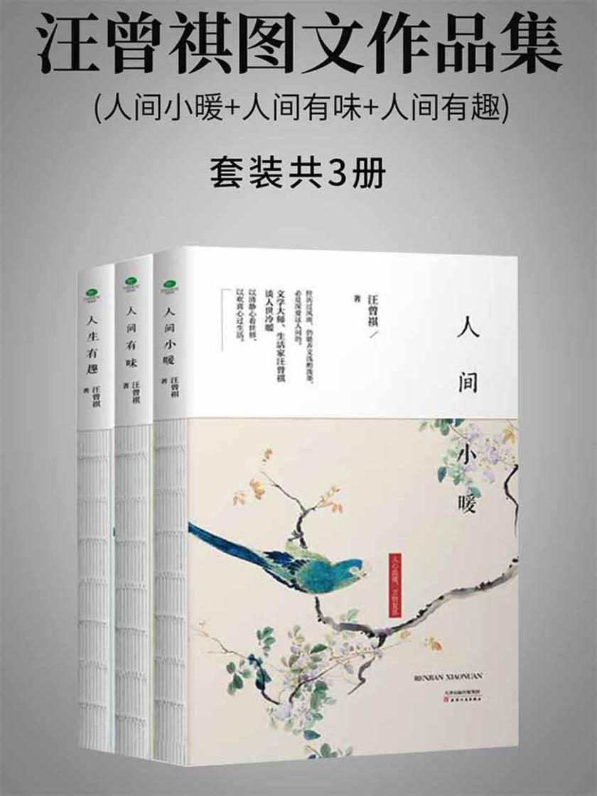 汪曾祺图文作品集套装共3册:人间小暖+人间有味+人间有趣