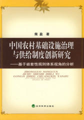 中国农村基础设施治理与供给制度创新研究