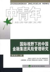 国际视野下的中国金融集团风险管理研究