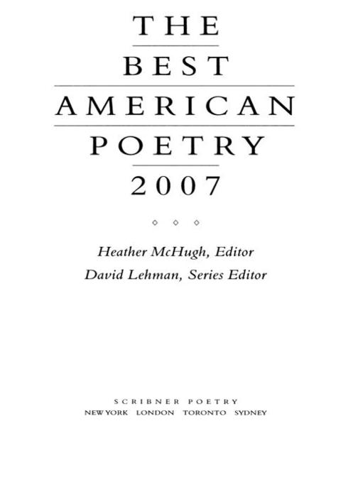 The Best American Poetry 2007