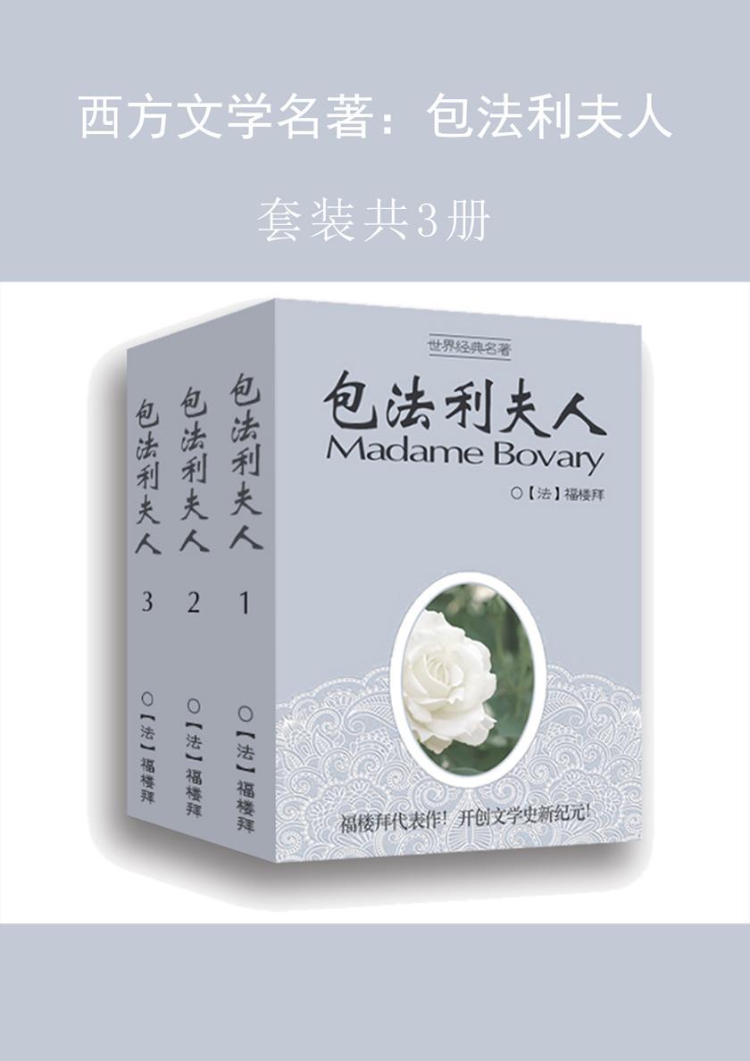 西方文学名著:包法利夫人(共3册)