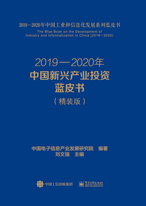 2019—2020年中国新兴产业投资蓝皮书(精装版)