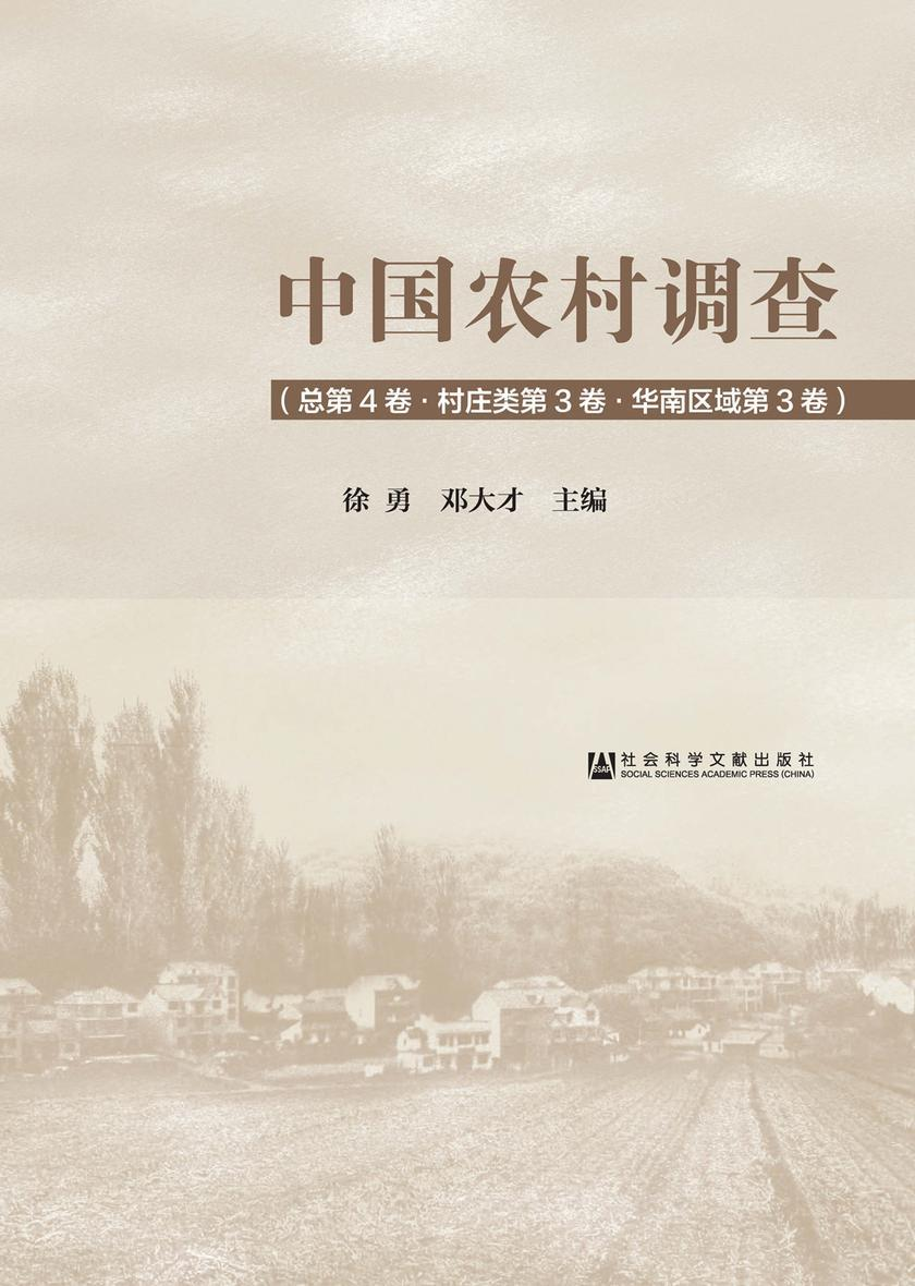 中国农村调查(总第4卷/村庄类第3卷/华南区域第3卷)