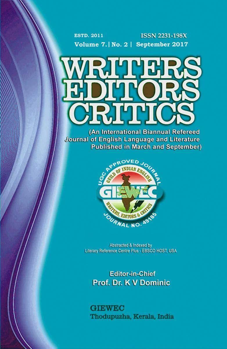 Writers Editors Critics (WEC):Vol. 7, No. 2 (September 2017)