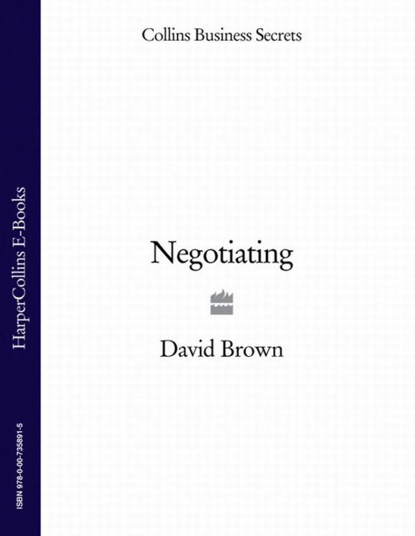 Negotiating (Collins Business Secrets)
