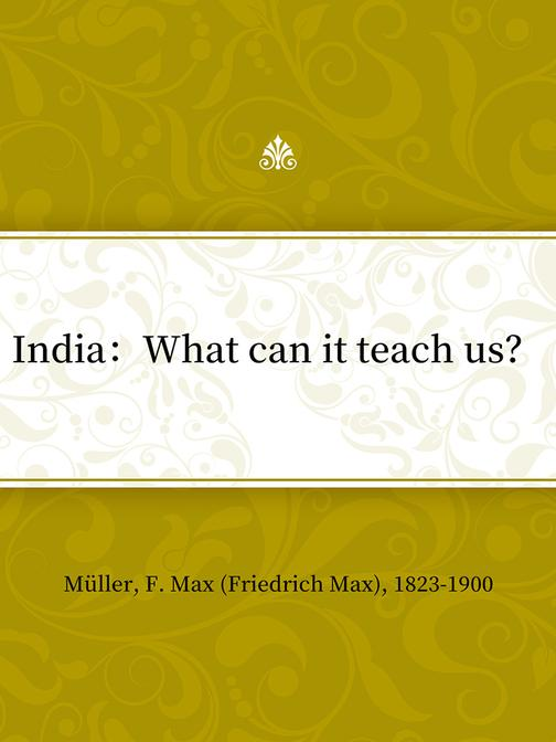India:What can it teach us?