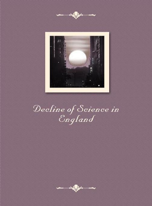 Decline of Science in England