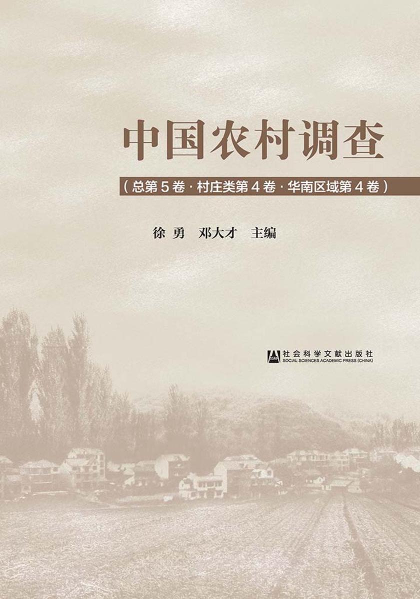 中国农村调查(总第5卷·村庄类第4卷·华南区域第4卷)
