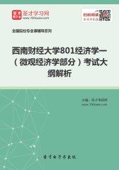 2018年西南财经大学801经济学一(微观经济学部分)考试大纲解析